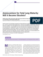 fetal lung maturity