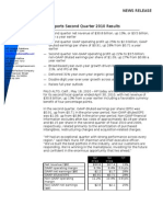 HP Reports Second Quarter 2010 Results