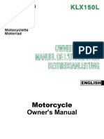 Kawasaki Klx150L Manual