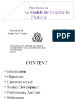 constitutive modelling of concrete in plasticity