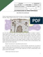 Avaliação de Lingua Portuguesa 5 Ano Maio