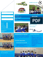 Dépliant Soccer Escabelle Dragons Année 2016 2017