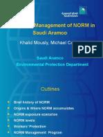 NORM in Saudi