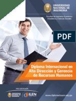 Diploma Internacional en Alta Direccion y Gerencia de Recursos Humanos 2