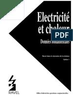 RAVEL -Electricité Et Chaleur Données Fondamentales