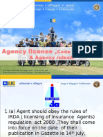 Agency License , Code of Coduct & Agency Rules