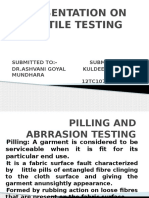 ppt on textile testing