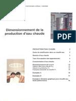 Dimensionnement de La Production d'Eau Chaude - Suissetec