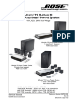 Bose lifestyle ps18ps28ps48 service manual