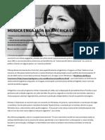 Música Engajada Na América Latina - Memórias Da Ditadura