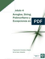Arreglos String Polimorfismo y Excepciones en Java