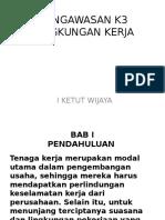 2. Pengawasan k3 Lingkungan Kerja