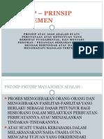 Prinsip – Prinsip Manajemen