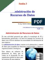 Sesión 3 Administración de Recursos de Datos