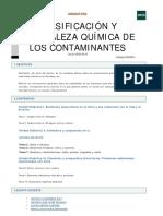 SI Clasificacion y Naturaleza Quimica de Los Contaminantes
