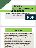 TEMA v . Problemas Socioeconomicos de Mexico.