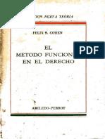 COHEN, Felix S. El Metodo Funcional en El Derecho. Buenos Aires, Abeledo-Perrot, 1962