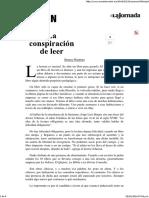 La Jornada_ La Conspiración de Leer