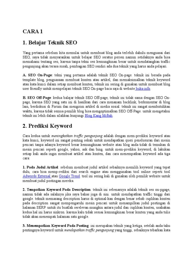 5 Cara Mendapatkan Trafik Organik Google