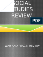 social studies review war and peace