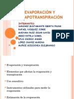 Evaporación y Evapotranspiración Ucv