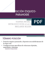 Posición Esquizo-paranoide Melanie Klein