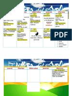 Calendario de Actividades del Campamento