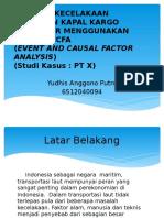 Analisis Kecelakaan Tabrakan Kapal Kargo Kontainer Menggunakan Metode ECFA (Event and Causal Factor Analysis), Studi Kasus