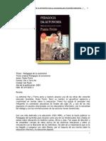 PEdagogía de La Autonompia