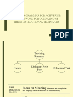 Teaching Grammar for Active Use