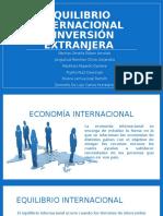 Equilibrio Internacional e Inversión Extranjera