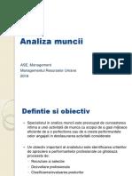 MRU - Analiza muncii