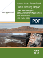 Public Hearing Report, Doris North project