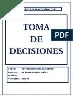 Toma de Decisiones de una entidad