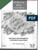 Historias Das Ideias Linguísticas