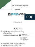 ProMDM - SharePoint on IOS