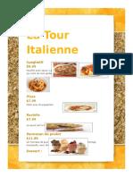 tache finale menu word