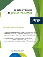 Critérios Para Avaliação Da Sustentabilidade
