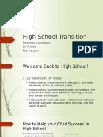 high school transition workshop