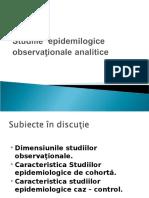 Studiile observaţionale