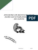 Hygiène Et Restauration Dans Les Établissements de Santé