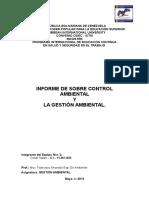 Trabajo Sobre Control Ambiental y La Gestión Ambiental