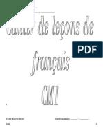 Cahier de Lecons de Francais Ens Cm1 Enseignant