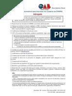 Checklist Advogado