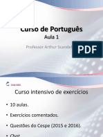 CACD Portugues Intensivo Exerc Aula 1