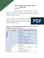 Identificación de Impactos Ambienteales 1