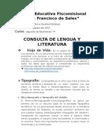 Consulta de Lengua