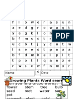 Flower Plant Wordsearch