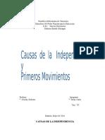 Informe Historia de Venezuela
