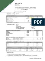 Dosificacion de Mezcla 2015 -210 Aricota